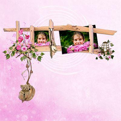 Hannah mit Blumen-kleiner
